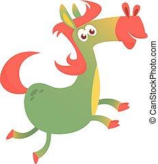Cartoon Horse Running. Vector illustration
