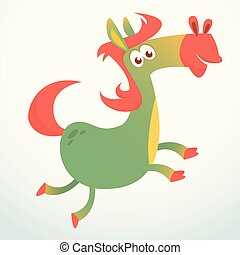 Cartoon Horse Running. Vector illustration