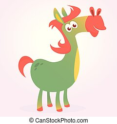 Cartoon Horse. Vector illustration