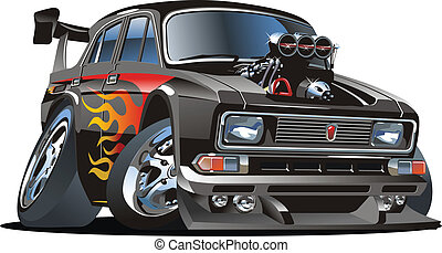 Cartoon hot rod