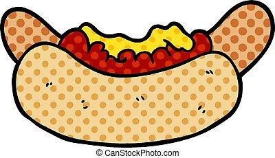 cartoon hotdog