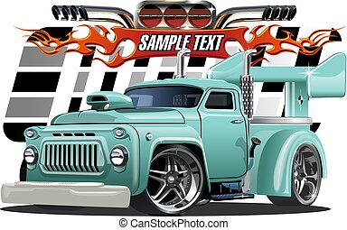 Cartoon hotrod - Vector cartoon hotrod. Available EPS-10...