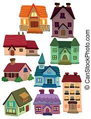 cartoon house icon  - cartoon house icon