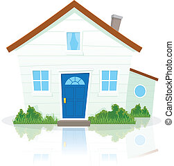 Cartoon House - Illustration of a cartoon simple house on...