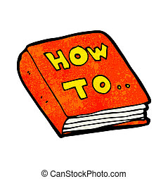 cartoon how to book rh canstockphoto com Software Instruction Manual Cartoon Discarded Instruction Manual