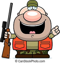 Cartoon Hunter Idea - A cartoon illustration of a hunter...