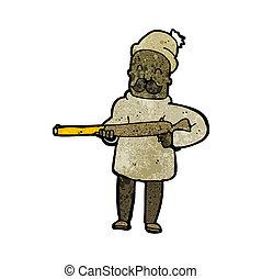 cartoon hunter with gun