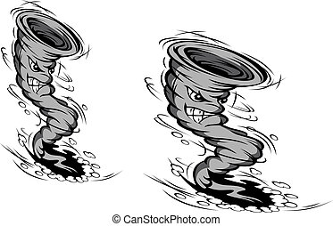 Cartoon hurricane - Danger hurricane in cartoon style for...