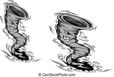 Cartoon hurricane - Danger hurricane in cartoon style for...
