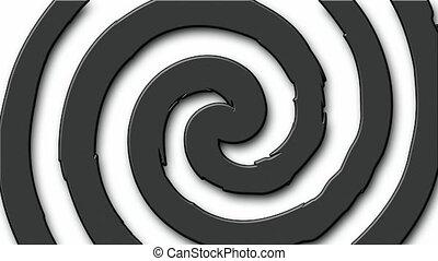 Cartoon hypno circle - Black and white cartoon hypnosis...