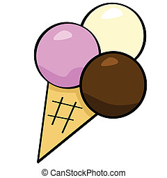 Cartoon ice cream - Cartoon illustration of an ice cream ...