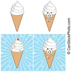 Ice Cream Cone. Collection Set