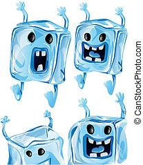Cartoon Ice Cubes