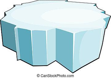 Cartoon ice floe. Isolate on white background. Vector illustration