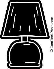 cartoon icon drawing of a bed side lamp