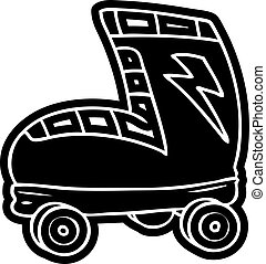 cartoon icon drawing roller skate boot - cartoon icon roller...