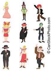 cartoon, ikon, maske, gilde