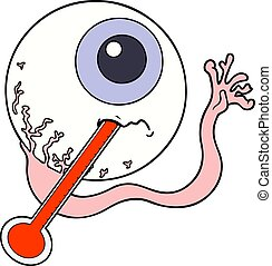 cartoon ill eyeball