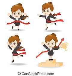 cartoon illustration competitive Business man - cartoon...