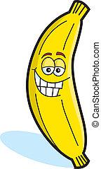 Cartoon Illustration of a Banana