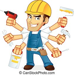 Handyman - Cartoon illustration of a Handyman