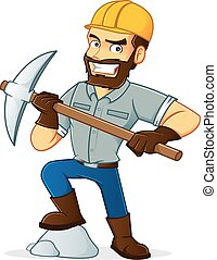 Cartoon illustration of a Miner
