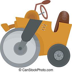 Cartoon Illustration of a Road Roller Construction Equipment