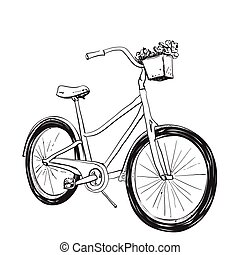 Cartoon illustration of bicycle