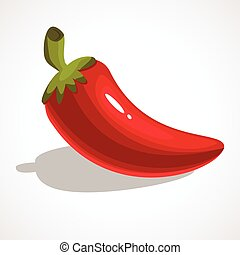 Cartoon illustration of chili pepper