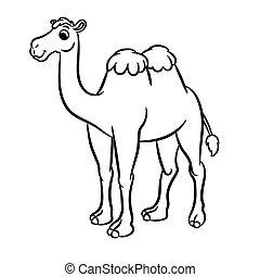 Cartoon illustration of cute camel