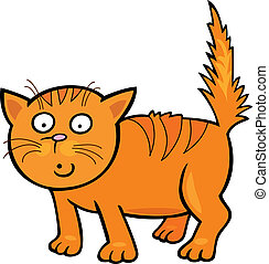 Cute little Cat - Cartoon illustration of Cute little Cat
