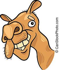 cartoon illustration of dromedary camel