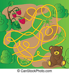 Cartoon Illustration of Education Maze or Labyrinth Game