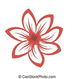 Cartoon illustration of flowers - vector