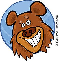 funny bear - cartoon illustration of funny bear