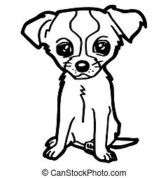Cartoon Illustration of Funny Dog f