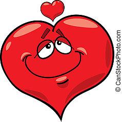 cartoon illustration of heart in love