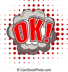 Cartoon illustration of ok