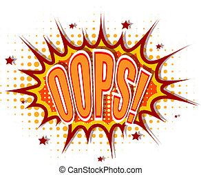 Cartoon illustration of oops