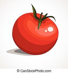 Cartoon illustration of red tomatoes