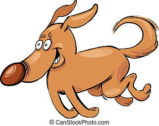 Cartoon illustration of running dog