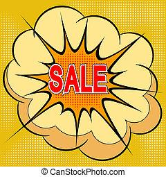Cartoon illustration of sale