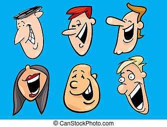 set of happy faces