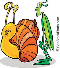 Snail and Grasshopper