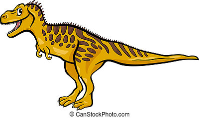 cartoon illustration of tarbosaurus dinosaur - Cartoon...