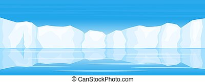 winter arctic ice landscape