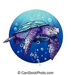 Cartoon image of a sea turtle