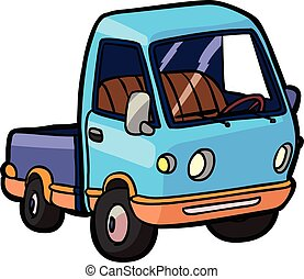 Cartoon image of a small truck