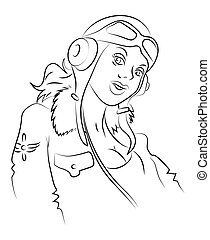 Cartoon image of air force woman