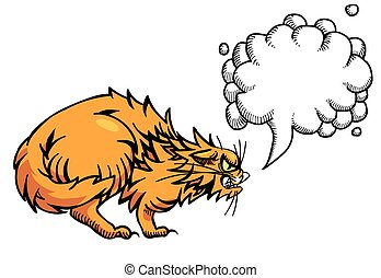 Cartoon image of angry cat